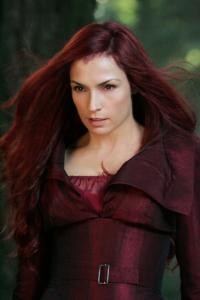 Famke Janssen portrays the empathic Jean Grey, member of the X-Men.